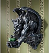 Winged Dragon Gargoyle Wall Sconce Candle Holder Décor - Set of 2