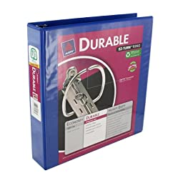 Durable EZ-Turn Round Ring Binder, 1.5 Capacity, 11 x 8-1/2,, Blue