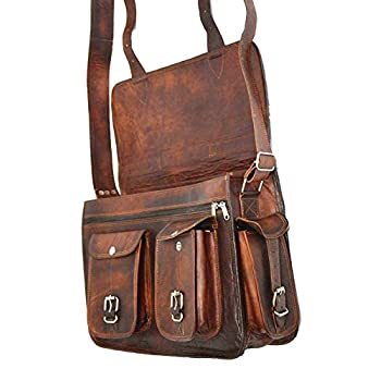 HIDE 1858 TM Genuine Leather Camera Office Satchel Bag 15""
