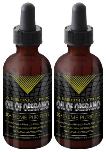 2Bottles Absonutrix Oil Of Oregano Xtreme Purifier 85% Carvacrol Oil 100% Pure 2Oz Pharmaceutical Grade