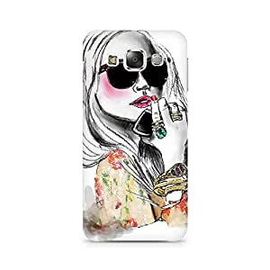 Mobicture Bird Premium Designer Mobile Back Case Cover For Samsung E5