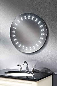ROUND LED ILLUMINATED BATHROOM MIRROR / DEMISTER/ SENSOR / 500 mm   ELECTRON       review and more information