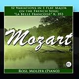 Variations on 'La belle Françoise', in E-flat major (12) K.353 Mozart