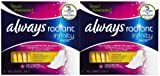 Always Radiant Infinity Pads Regular Flexi-Wings Light Clean Scent, 16 Each by Procter & Gamble