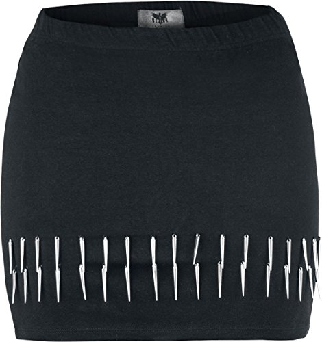 Black Premium by EMP Spiky Rivet Skirt Gonna nero L