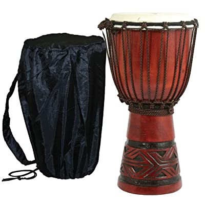 X8 Celtic Labyrinth Djembe Drum with Tote Bag