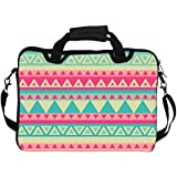 """Snoogg Aztec Pink 14"""" 14.5"""" 14.6"""" Inch Laptop Notebook SlipCase With Shoulder Strap Handle Sleeve Soft Case With..."""