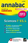 Annales Annabac 2013 Sciences 1re ES,...