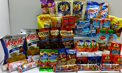Healthy Snacks Gift Box, College Dorm, Military,Breakroom Bundle Gift (45 Count) image