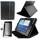 """Black PU Leather Case Cover Stand for NATPC 9.2 ECONOMY ANDROID TABLET 9.2"""" 9.2 INCH + Screen Protector + Stylus Pen"""