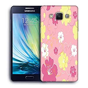 Snoogg Green Small Spots Printed Protective Phone Back Case Cover For Samsung Galaxy A5