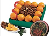 Gourmet Fruit Gift Basket - Orchard Fresh Navel Oranges & Chocolate Covered Cashews