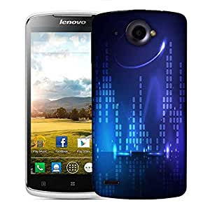 Snoogg Blue Music Beats Designer Protective Phone Back Case Cover For Lenovo S920