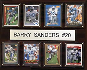 NFL Detroit Lions Barry Sanders 8 Card Plaque by C&I Collectables