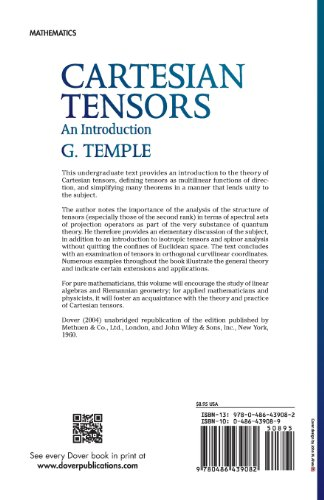 Cartesian Tensors: An Introduction (Dover Books on Mathematics)