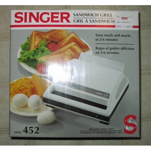 Amazon com  SANDWICH MAKER GRILL By Singer Model 452  Kitchen  amp  Dining