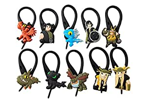 BabyCentre 10 pcs How To Train Your Dragon Soft Zipper Pull Charms for Bag Jacket