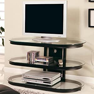 Unique Design LCD / Plasma Media Storage TV Stand