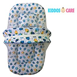KiddosCare Toddler Mattress with Mosquito Net ( Blue ) for Baby - Ideal for New born to 3 months baby