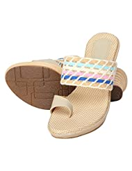 Niremo Women's Electric Illayna Bree Cream Faux Leather Sandals