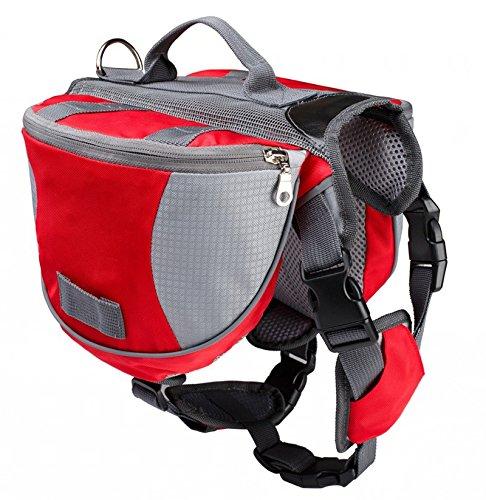 Hunderucksack-fr-Groe-Hunde-Reisen-Camping-Wandern-Satteltasche-Hundegeschirr-Backpack-Rot-L
