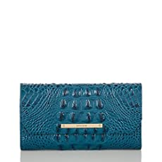 Soft Checkbook Wallet<br>Teal Melbourne