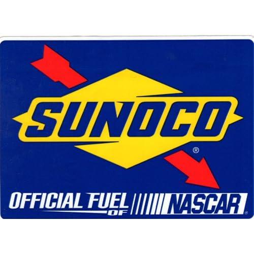 Amazon.com: Nascar Sunoco Bumper Sticker Get Caught & Win Gas