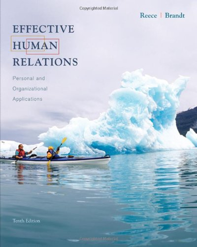 Image for Effective Human Relations: Personal and Organizational Applications