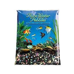 Pure Water Pebbles Aquarium Gravel, 25-Pound, Black Beauty Pebble Mix