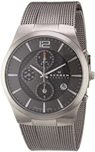 Skagen Herren-Armbanduhr XL Chronograph Quarz Edelstahl 906XLTTM