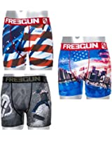 Lot 3 Boxers Freegun Homme Skate-Nyd-USA