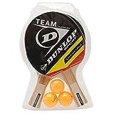 Dunlop Unisex Team 2 Player Set Table Tennis Set Bat Ball Sports Accessories