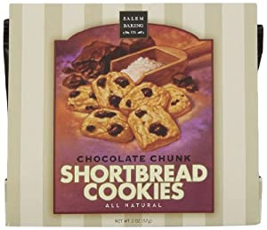 Salem Baking Company Moravian Chocolate Chunk Shortbread Cookies, 2-Ounce Single Serve Packages (Pack of 36)