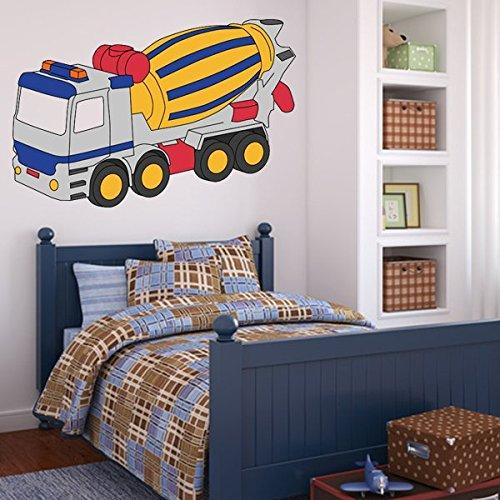 denoda-Betonmischer-Wandtattoo-76-x-50-cm-Wandsticker-Wanddekoration-Wohndeko-Wohnzimmer-Kinderzimmer-Schlafzimmer-Wand-Aufkleber