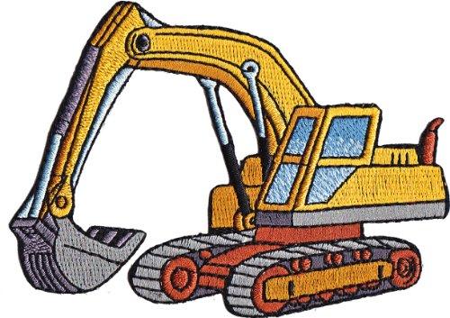 Application Heavy Equipment Cartoon Excavator Patch