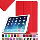 Fintie SmartShell Case for Apple iPad Air (iPad 5 5th Generation) Ultra Slim Lightweight Stand (with Smart Cover Auto Wake / Sleep) - Red