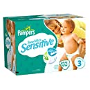 Pampers Swaddlers Sensitive Size 3 Economy Plus Pack 132 Count