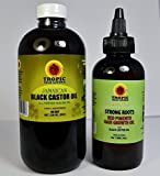 Jamaican Black Castor Oil 8 oz & Strong Roots Pimento 4 oz