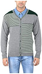 Globate Men's Daffodil Sweater (d206 gry grn crm, XL)