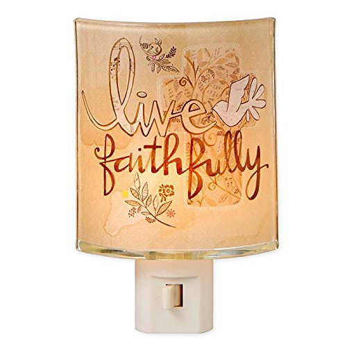Live Faithfully Glass Plug-In Night Light