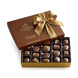 GODIVA Chocolatier Milk Chocolate Assortment Gift Box, Classic Ribbon, 22 pc.