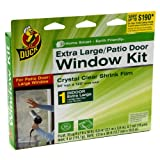 Duck Brand 281065 Indoor Extra Large Window/Patio Door Shrink Film Kit, 84-by-120-Inch