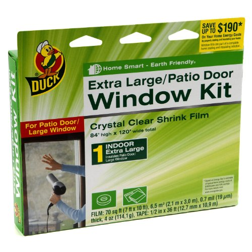 Clear patio window plastic covers draft sealer interior for Window insulation kit