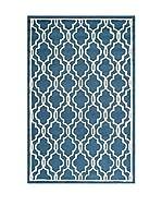 SAFAVIEH Alfombra Elle Textured Area Rug, 121 X 182 Cm (Azul Marino)