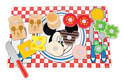 Melissa & Doug Disney Mickey Mouse Clubhouse Wooden Sandwich-Making Play Food Set (Disney Baby Food compare prices)