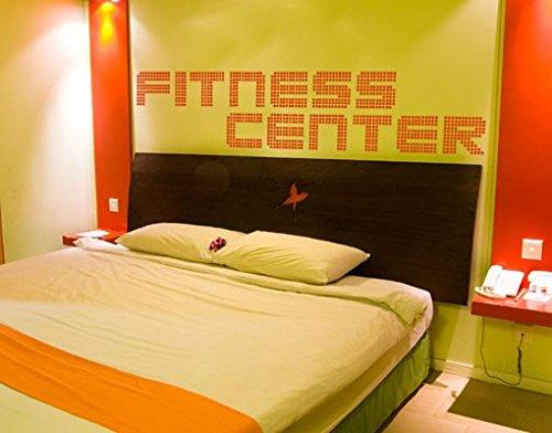 Adesivo da parete No. TM72palestra fitness e sport divertimento sex letto fitness, Crema 837, 90x428
