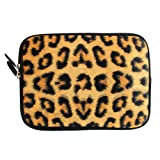 CaseGuru Lepid Leopard Print Case Sleeve Carry Bag Pouch for Apple iPad Mini/Amazon Kindle Fire HD/ Kobo Aura/Google Nexus 7 and fits devices/ereaders/tablets/notebooks/laptops up to 7/ 7.85' inches