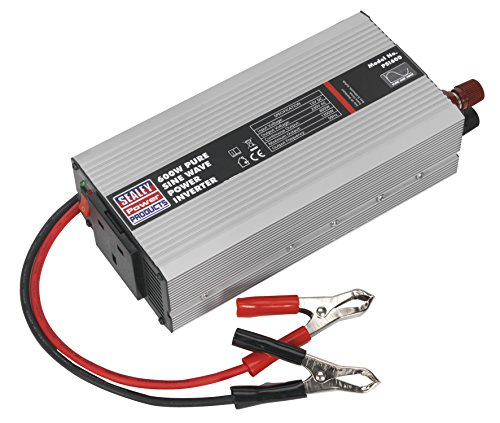 Sealey PSI600 Power Inverter Pure Sine Wave, 600 W, 12 V DC, 230 V, 50 Hz