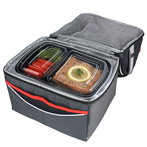 Freshware 15-Pack 2 Compartment Bento Lunch