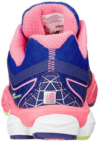 888098239928 - New Balance Women's W890 Neutral Light Running Shoe,Blue/Pink,12 B US carousel main 1